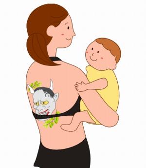 母親と2歳児
